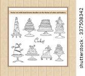vector set of hand drawn... | Shutterstock .eps vector #337508342