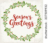 season's greetings calligraphy. ... | Shutterstock .eps vector #337509932