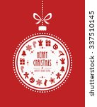 christmas ball ornaments red... | Shutterstock .eps vector #337510145