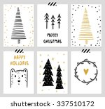 christmas and new year's 6... | Shutterstock .eps vector #337510172