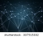 abstract background with points ... | Shutterstock . vector #337515332