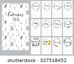 Calendar 2016 With Hand Drawn...