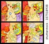 comic strip clown sex | Shutterstock . vector #337518938