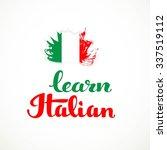 learn italian calligraphic... | Shutterstock .eps vector #337519112