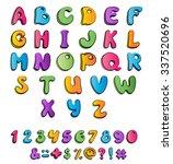 children's multicolored cartoon ... | Shutterstock .eps vector #337520696