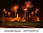 firework celebration at wat... | Shutterstock . vector #337520915