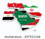 middle east 3d map with state... | Shutterstock . vector #337521146