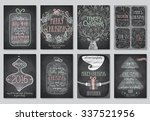 set of christmas emblems  ... | Shutterstock .eps vector #337521956