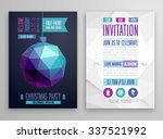 christmas flyer   geometric... | Shutterstock .eps vector #337521992