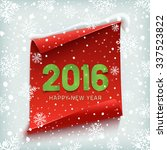 happy new year 2016.  red ...   Shutterstock .eps vector #337523822