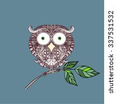 decorative ornamental owl ... | Shutterstock .eps vector #337531532