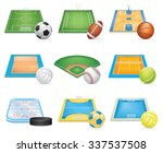 sport fields icons set | Shutterstock . vector #337537508
