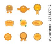 set of labels and logos for... | Shutterstock . vector #337537742