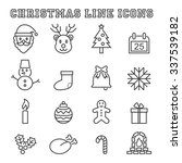 christmas line icons  mono... | Shutterstock .eps vector #337539182