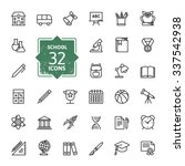outline icon collection  ... | Shutterstock .eps vector #337542938