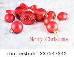 christmas background with red...   Shutterstock . vector #337547342