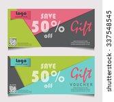 gift voucher certificate coupon ...   Shutterstock .eps vector #337548545
