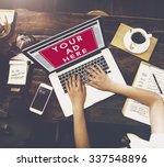online advertising website... | Shutterstock . vector #337548896