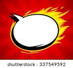 fiery pop art style empty... | Shutterstock .eps vector #337549592