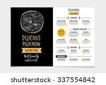 vector restaurant brochure ... | Shutterstock .eps vector #337554842