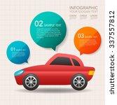 car infographics design  | Shutterstock .eps vector #337557812