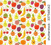 seamless pattern with happy... | Shutterstock .eps vector #337568162
