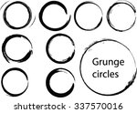grunge circles.abstract round... | Shutterstock .eps vector #337570016