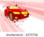 red sport car  vector  | Shutterstock .eps vector #3375756