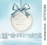 merry christmas card with a... | Shutterstock .eps vector #337576286