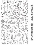 hand drawn doodle seamless... | Shutterstock .eps vector #337589636