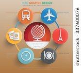 travel concept design info... | Shutterstock .eps vector #337600076