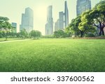 park in lujiazui financial... | Shutterstock . vector #337600562