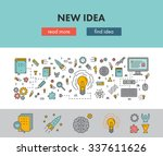 line design concept web banner... | Shutterstock .eps vector #337611626