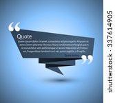 quote blank template. business... | Shutterstock .eps vector #337614905