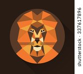 flat trendy low polygon style... | Shutterstock .eps vector #337617896