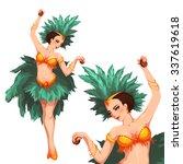 woman samba dancer. rio... | Shutterstock .eps vector #337619618