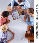 business people sitting and... | Shutterstock . vector #337625576