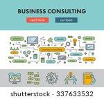 line design concept banner for... | Shutterstock .eps vector #337633532