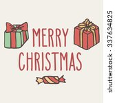 christmas hand drawn doodle... | Shutterstock .eps vector #337634825