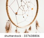 beige dreamcatcher close up | Shutterstock . vector #337638806