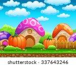 seamless cartoon fairy tale...   Shutterstock .eps vector #337643246