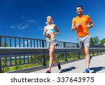 fitness  sport  friendship and... | Shutterstock . vector #337643975