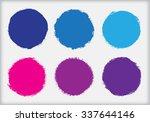 grunge circles. grunge round... | Shutterstock .eps vector #337644146
