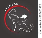 fitness gym man. vector logo....   Shutterstock .eps vector #337651922
