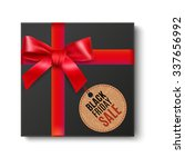 black gift box top view with... | Shutterstock .eps vector #337656992