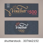 gift voucher template. | Shutterstock .eps vector #337662152
