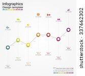 infographic report template... | Shutterstock .eps vector #337662302