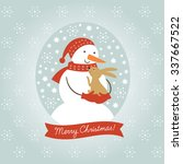 christmas vector illustration | Shutterstock .eps vector #337667522