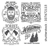 forester graphic set for tee | Shutterstock .eps vector #337672115