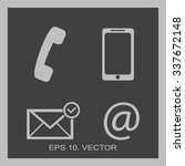 contact buttons set   email ... | Shutterstock .eps vector #337672148